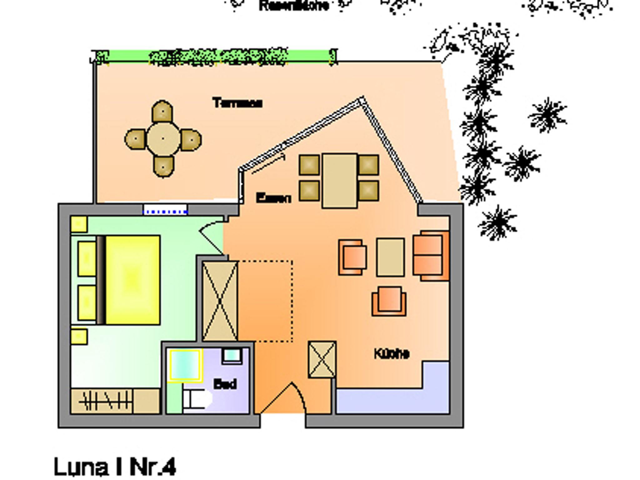 Helles, großzügiges 2-4 Personen Appartement mit Wintergarten und Zugang zum Garten; strandnah; Luna I Nr. 4