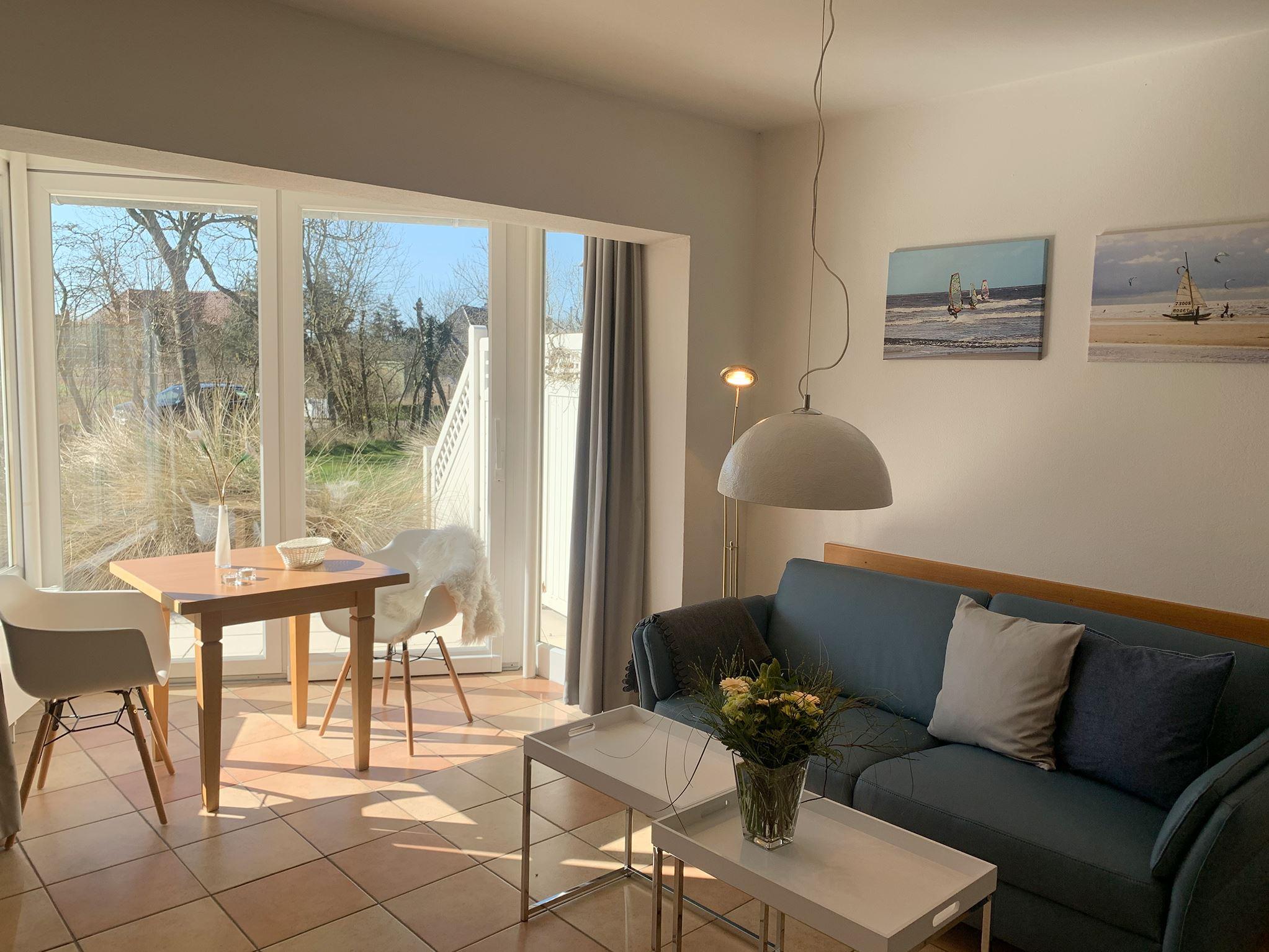 Helles 2 Personen Appartement mit Wintergarten und Zugang zum Garten; strandnah; Luna I Nr. 5