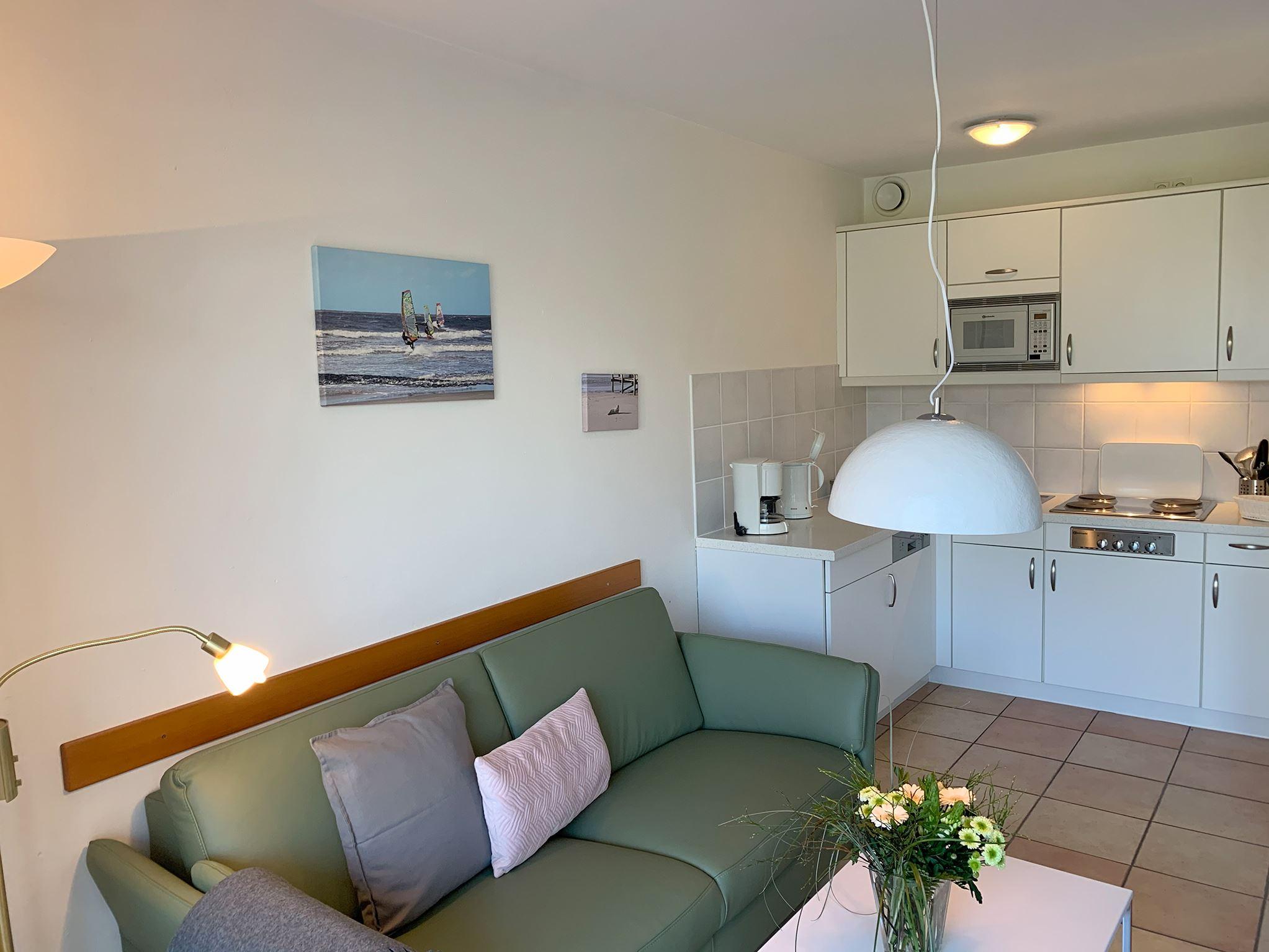 Helles 2 Personen Appartement mit Wintergarten und Zugang zum Garten; strandnah; Luna I Nr. 6
